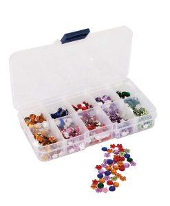 Organizzatore Plastica Gemme Perline Scrapbook Decoupage