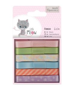 Nastro Ribbon Colorato Scrapbook Docrafts Little Meow