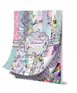 Paper Pad Scrapbook Carta Blocchetto di Carta hunkydory A touch of Shimmer