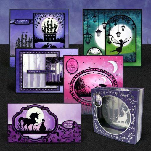 Scrapbook Cartoncino Acetato Shadow Box Twilight Kingdom