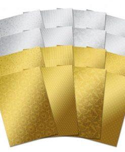 Mirri Gold Silver Oro Argento Cartoncino Laminato Scrapbook Cardmaking
