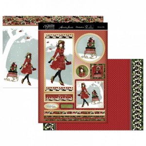 Topper Set Kit Biglietti Cards Scrapbook Decoupage Christmas Cardmaking Papercraft