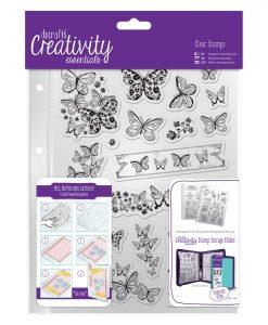 Stamp Timbro Farfalle Scrapbook