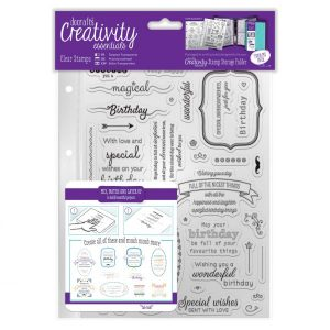 Stamp Timbro Scrapbook Frasi Auguri Compleanno Happy Birthday