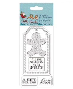 Stamp Timbro Natale Scrapbook Gingerbread Cookie Biscotto