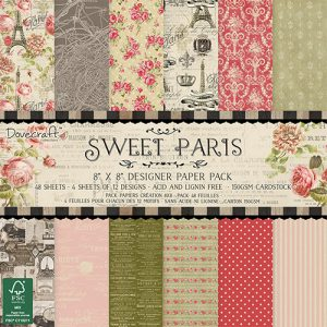 Trimcraft Italia Sweet Paris Paper Pad Bloccheto Scrapbook Cartoncino