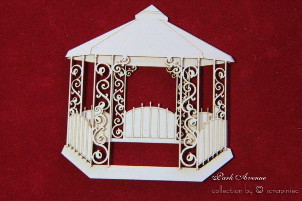Gazebo Fustellato Die-Cut Chipboard Scrapbook Italia