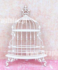 Gabbia Fustellata Gabbia Uccellino Fustellata Die-Cut Scrapbook Chipboard