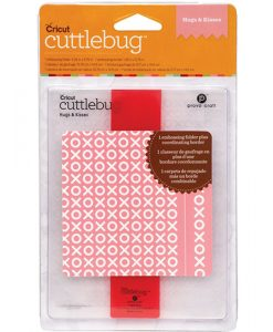 Embossing Folder Cartella Goffratura Hug and Kisses A2 Cuttlebug