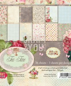 Tea Time Cartoncino Scrapbooking Inviti Biglietti Scrapbook Italia