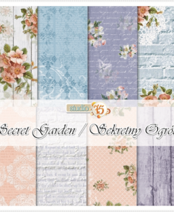 Secret Garden Cartoncino per Scrapbooking Carta Decoupage Italia