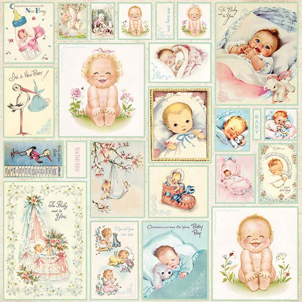 New Baby Born Figurine Neonato Carta Cartoncino Scrapbooking Inviti Baby Shower