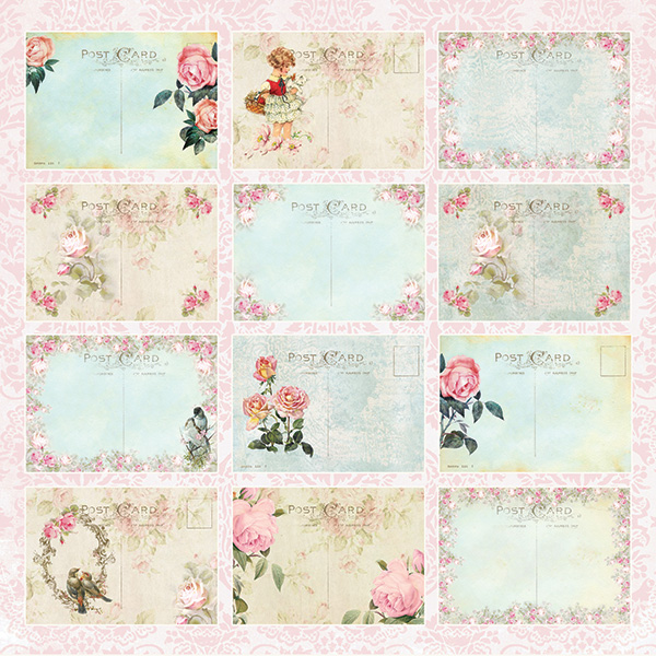 Tag Scrapbooking Materiali Cartoncino Stampato