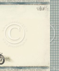 Tom's Motorcycles - Foglio Singolo per Scrapbooking Carta Scrapbooking Moto Motrocycle