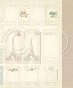 Tags Paris Flea Market Pion Design Italia Negozio Scrapbooking