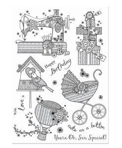 Stamps Timbri Special Gifts Hunkydory Italia Scrapbook Papercraft Cardmaking Biglietti Macchina da Cucire