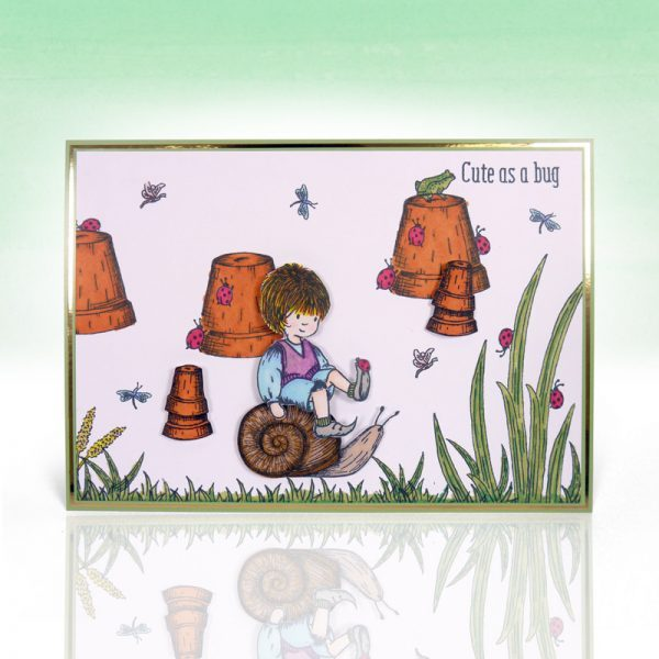 Stamps Timbri Lumaca Coccinella Timbro Special Gifts Hunkydory Italia Scrapbook Papercraft Cardmaking Biglietti