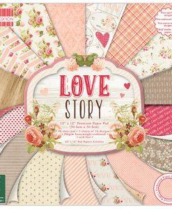 Trimcraft Italia Love Story Paper Pad Bloccheto Scrapbook Cartoncino