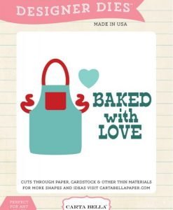 Baked with Love Fustella Grembiule Scrapbooking Echo Park