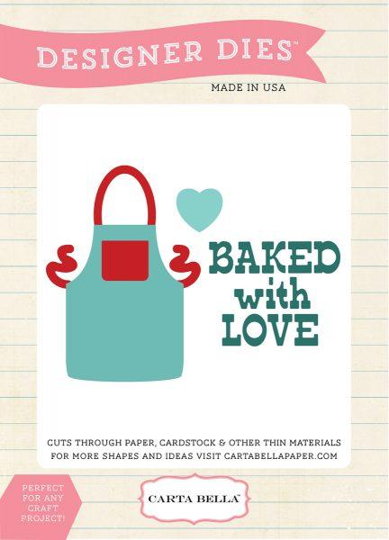 Baked with Love Fustella Grembiule Scrapbooking Echo Park