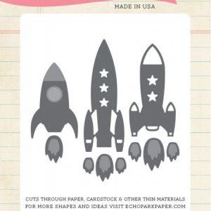 Fustella Razzi Spaziali Scrapbooking Rocket Ship