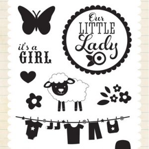 It's a girl! Timbro Scrapbooking Bimba