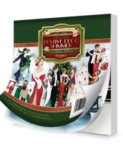Il Piccolo Libro Quadrato di Festive Deco Shimmer Carte Abbellimenti Natale Christmas Scrapbooking Hunkydory Italia