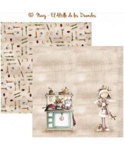 Collezione Ofelia Cocina (Cucina) - Cartoncino El Altillo de los Duendes Cucina Ricettario Scrapbooking Italia