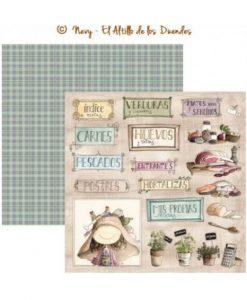 """Ofelia Cocina 02 (Cucina) - Cartoncino 12x12"""" Scrapbooking Italia El Altillo de los Duendes"""