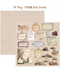 """Ofelia Cocina 06 (Cucina) - Cartoncino 12x12"""" Scrapbooking Cardmaking Italia El Altillo de los Duendes"""
