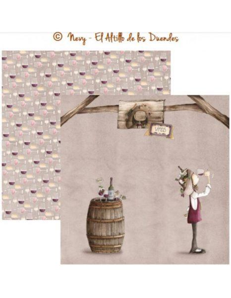 """Ofelia Cocina 08 (Cucina) - Cartoncino 12x12"""" Scrapbooking Italia Cardmaking El Altillo de los Duendes Italia"""