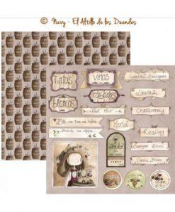 """Ofelia Cocina 09 (Cucina) - Cartoncino 12x12"""" Cardmaking Scrapbooking El Altillo de los Duendes Italia"""