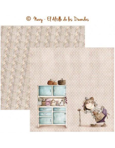 """Ofelia Cocina 11 (Cucina) - Cartoncino 12x12"""" Scrapbooking Cardmaking El Altillo de los Duendes Italia"""